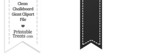 Clean Chalkboard Giant Vertical Stitched Ribbon Clipart