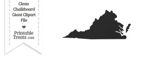 Clean Chalkboard Giant Virginia State Clipart