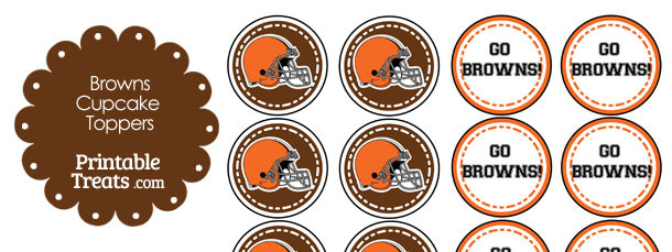 Cleveland Browns Cupcake Toppers