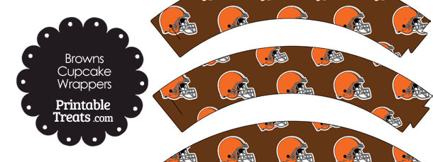 Cleveland Browns Football Helmet Cupcake Wrappers