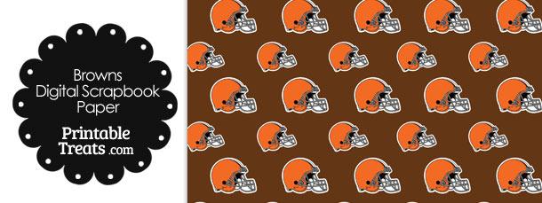 Cleveland Browns Football Helmet Digital Paper