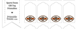 Cleveland Browns Gift Tags