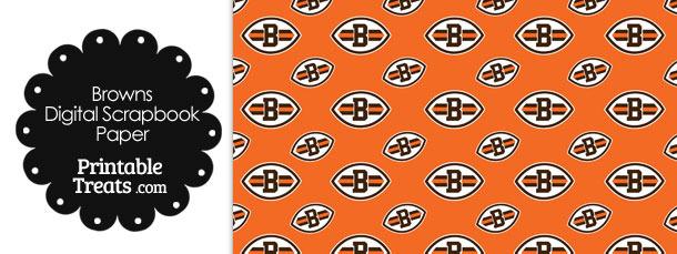 Cleveland Browns Logo Digital Paper