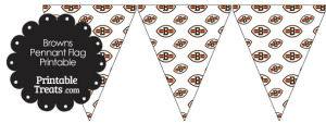 Cleveland Browns Logo with White Background Pennant Banners