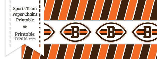 Cleveland Browns Paper Chains