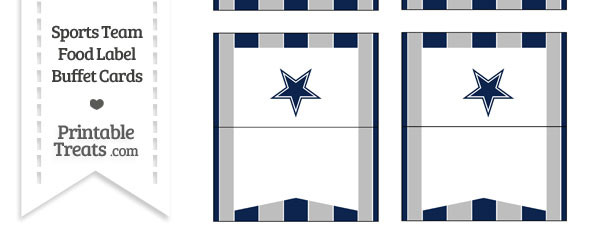 Cowboys Food Label Buffet Cards