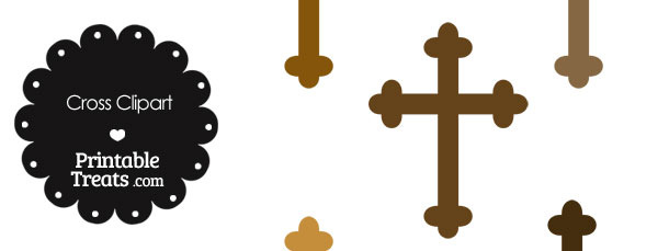 Cross Clipart in Shades of Brown