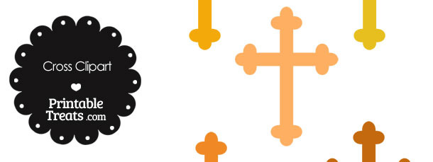 Cross Clipart in Shades of Orange