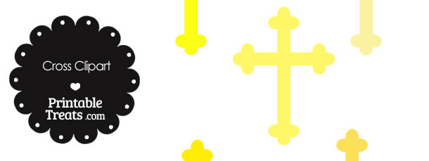 Cross Clipart in Shades of Yellow