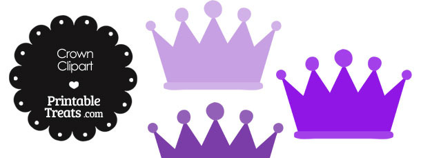 Crown Clipart in Shades of Purple