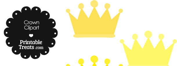 Crown Clipart in Shades of Yellow