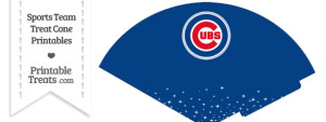 Cubs Treat Cone Printable