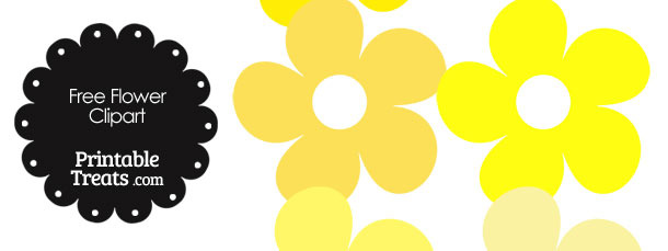 Cute Flower Clipart in Shades of Yellow