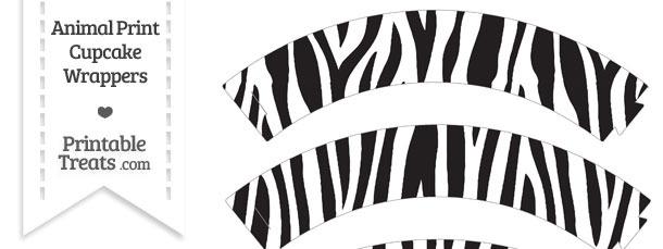Free Zebra Print Cupcake Wrappers