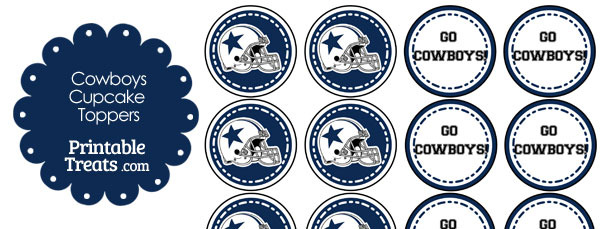 Dallas Cowboys Cupcake Toppers