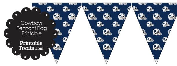 Dallas Cowboys Football Helmet Pennant Banners