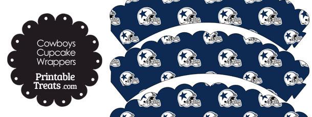 Dallas Cowboys Football Helmet Scalloped Cupcake Wrappers
