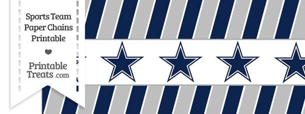 Dallas Cowboys Paper Chains