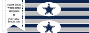 Dallas Cowboys Water Bottle Wrappers