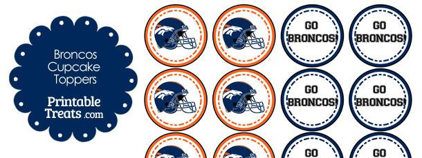 Denver Broncos Cupcake Toppers