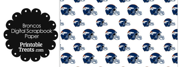 Denver Broncos Football Helmet Digital Paper