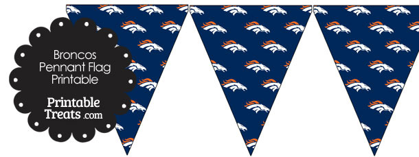 Denver Broncos Logo Pennant Banners