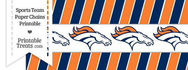 Denver Broncos Paper Chains