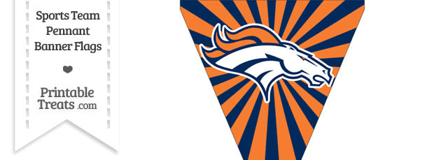 Denver Broncos Pennant Banner Flag