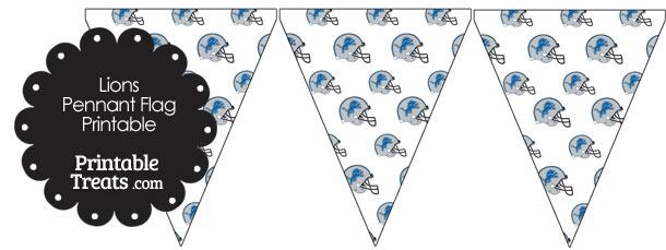 Detroit Lions Football Helmet Pennant Banners