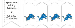 Detroit Lions Gift Tags