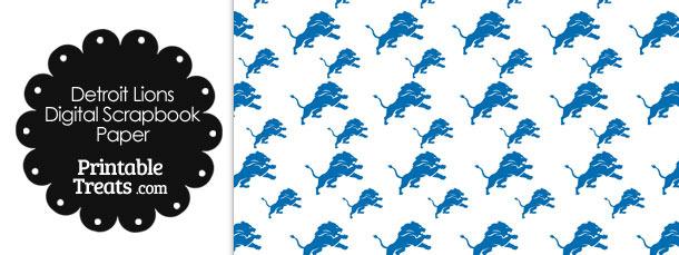 Detroit Lions Logo Digital Paper