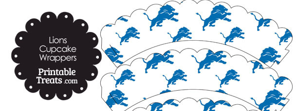 Detroit Lions Logo Scalloped Cupcake Wrappers