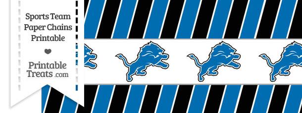 Detroit Lions Paper Chains