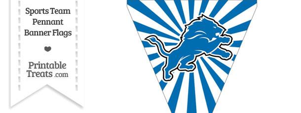 Detroit Lions Pennant Banner Flag