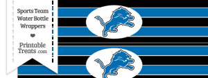 Detroit Lions Water Bottle Wrappers