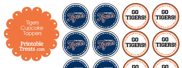 Detroit Tigers Cupcake Toppers