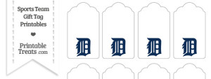 Detroit Tigers Gift Tags