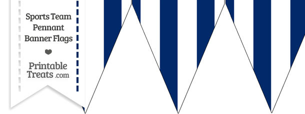 Dodgers Colors Pennant Banner Flag