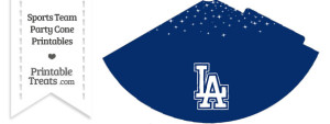 Dodgers Party Cone Printable