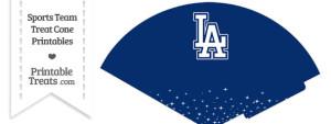 Dodgers Treat Cone Printable
