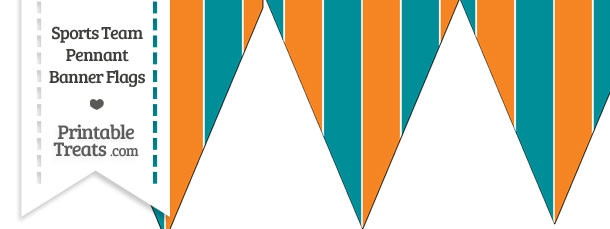 Dolphins Colors Pennant Banner Flag