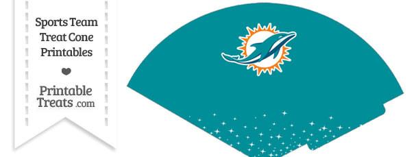 Dolphins Treat Cone Printable