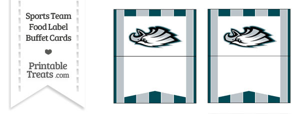 Eagles Food Label Buffet Cards