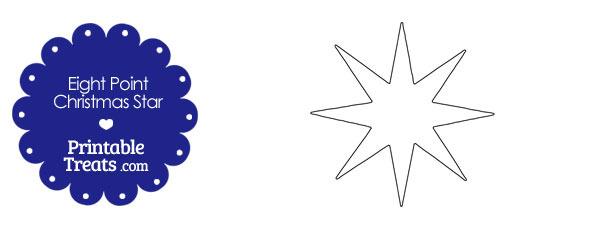 Eight Point Christmas Star Template