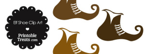 Elf Shoe Clipart in Shades of Brown