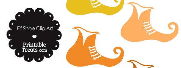 Elf Shoe Clipart in Shades of Orange