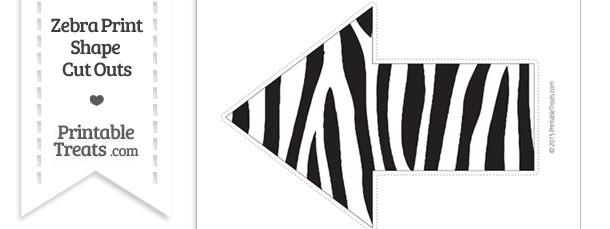 Extra Large Zebra Print Arrow Cut Out