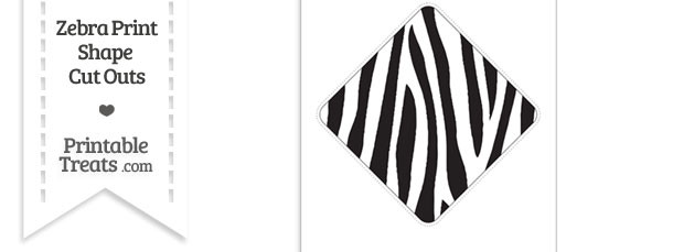 Extra Large Zebra Print Diamond Cut Out