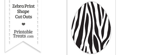 Extra Large Zebra Print Easter Egg Cut Out