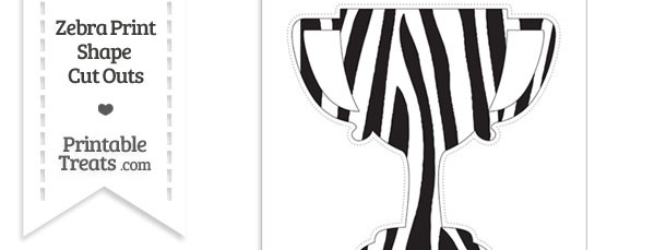 Extra Large Zebra Print Trophy Cut Out